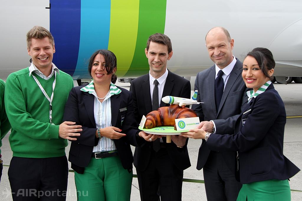 Legújabb gépével ünnepelt Ferihegyen a Transavia France