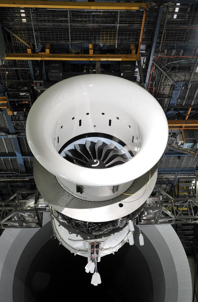 Felszálló teljesítményen a 737 MAX hajtóműve