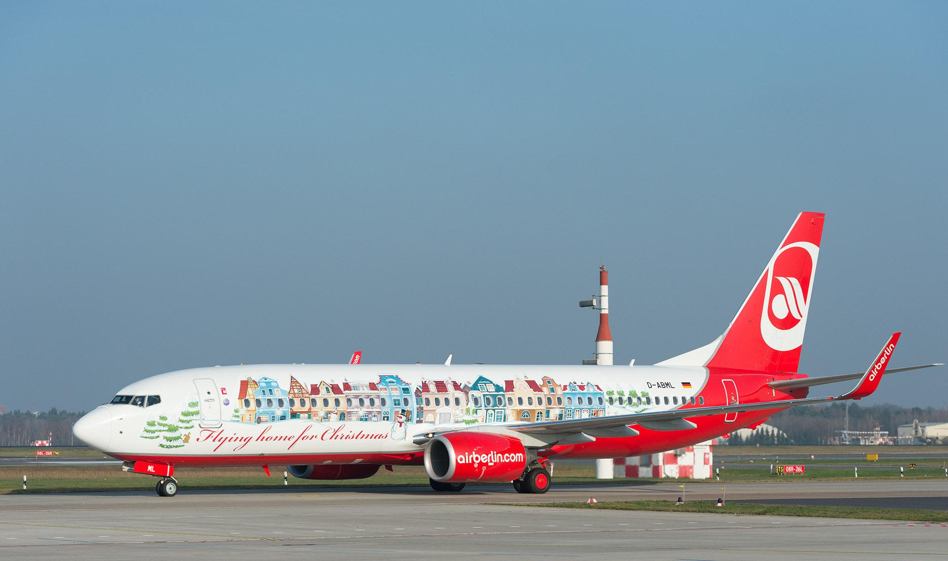Bemutatkozott az airberlin idei karácsonyi repülőgépe