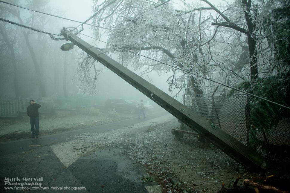 Apokaliptikus képek a jég borította Normafáról