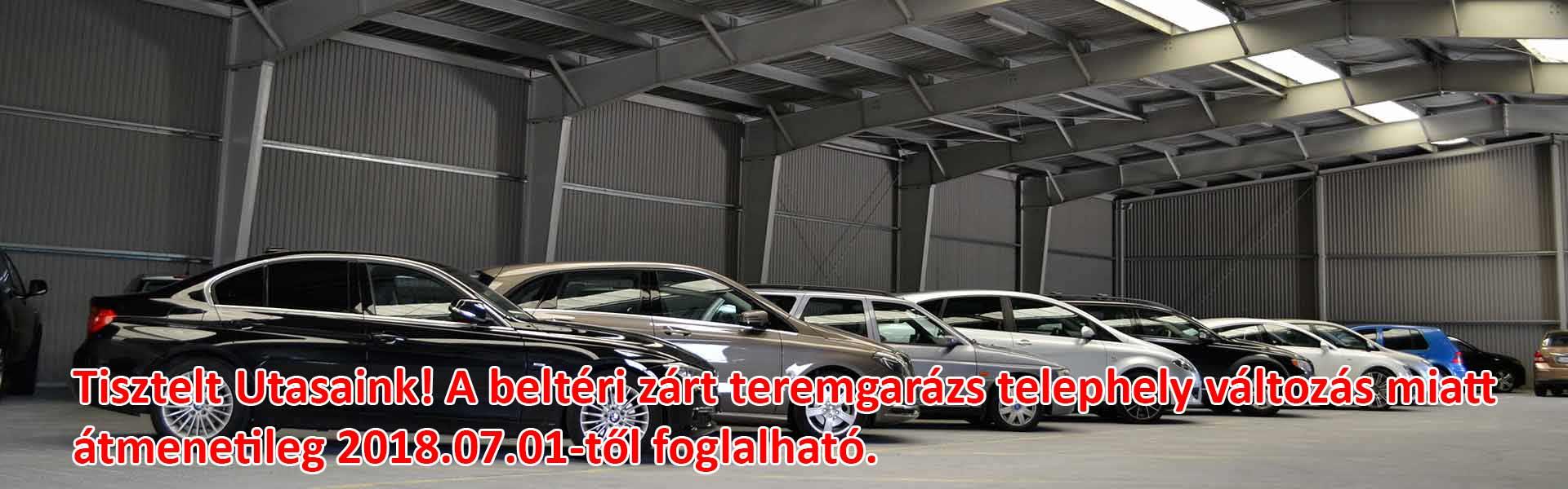 Fedett reptéri parkoló