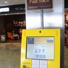 Fast Track automaták a Liszt Ferenc reptéren
