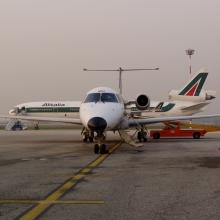 Pánik és ima az Alitalia gépén