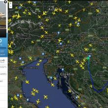 Órákra leállt a légiforgalom Horvátország felett